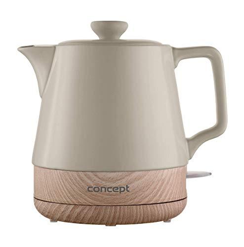 CONCEPT Hausgeräte Keramik Wasserkocher RK0061 1 L, kaffeebraun