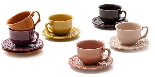 Kit com 6 xícaras, Coleção Especiarias, Acervo Panelinha