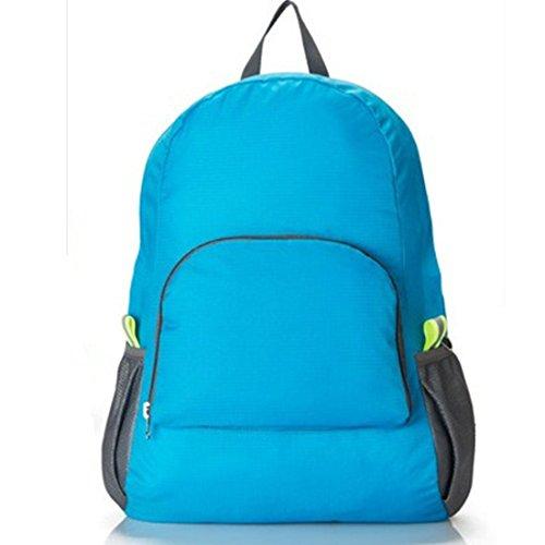 fadsace nominale 20 L Plus durable pliable pratique sac à dos de voyage ultraléger pliable Randonnée Sac à dos Bleu Bleu taille unique
