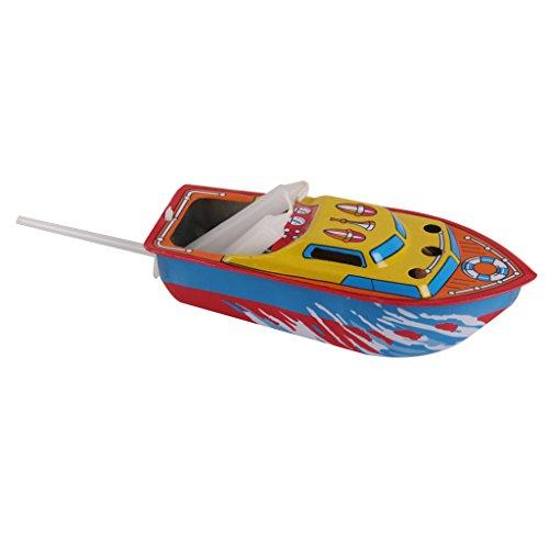 Produktbild Kerze Boot Blechspielzeug