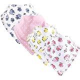 Luvable Friends Baby Basic Cotton Bandana Bib Set, Floral Pink, One size