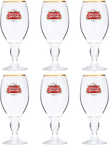 SP Stella Artois calice bicchieri da birra   marcati CE   Nucleati (6,1 oz/290 ml/mezza pinta)