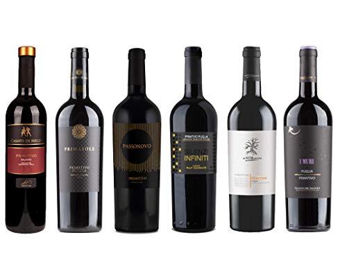 6er Probierpaket Primitivo zum Kennenlernen | Rotwein aus Apulien | trocken | 6 x 0,75 L.