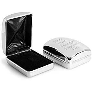 Personalised Chrome Necklace / Pendant Case Box Engraved - Enter Your Custom Text:Isfreetorrent
