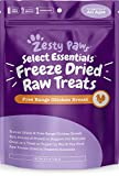 Freeze Dried Chicken Treats for Dogs & Cats - Raw Human Grade & Free Range Chicken Breast - Healthy Dog & Cat Training Snacks + Topper for Wet & Dry Food - Rich Source of Protein & Amino Acids 4.9 oz