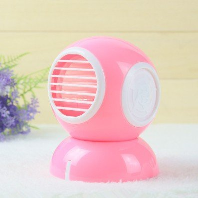 house deco Rosa Creativo USB Mini Senza Lama Ventilatore Palma l'aria condizionata Studenti Portatile Piccolo Aria condizionamento dell'Aria refrigerazione Ventilatore Batteria Ufficio Rosa
