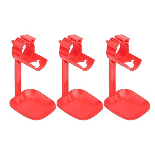 10Pcs ABS Labor-Saving Chicken Drinker Cups Waterer Hanging Cup Bent Farm Accessories Supplies Quality Automatic Chicken Water Nipple Cup Waterer Kit for Poultry