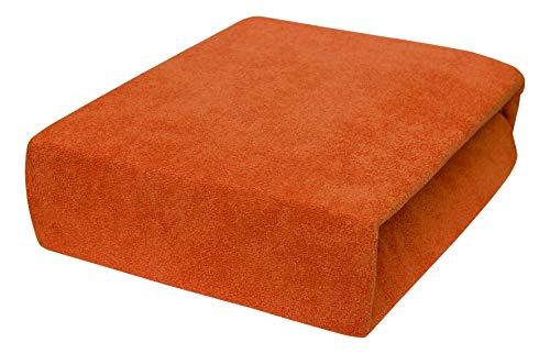Drap housse avec élastique éponge 90x160, 90x180, 90x200 - 23 Farben 90x180, Rust Brown