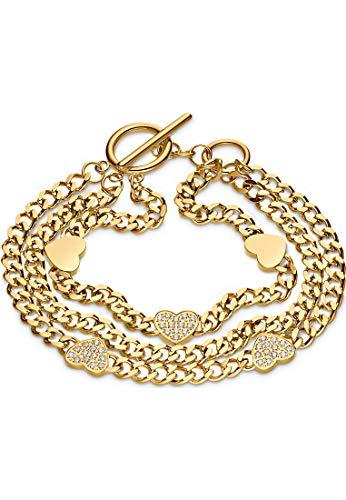 Guido Maria Kretschmer by CHRIST GMK Damen-Armband Edelstahl 39 Zirkonia One Size Gold 32012877