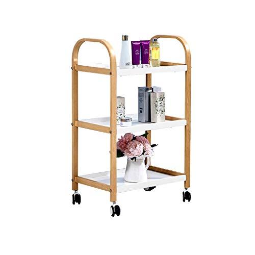 ChangDe Etagenwagen, Metallregale, Küchenregale, robuste Wagenregale for Restaurants auf Rädern,...