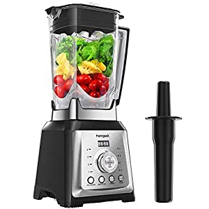 Homgeek Blender Smoothie Maker, 2000W High Speed Countertop Blender with 8 speeds Control, 8 Sharp Blade, 4 Blending Presets, BPA Free Tritan Pitcher & Tamper