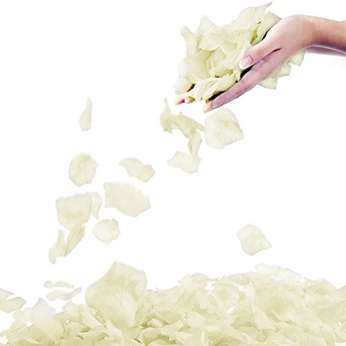 Jasmine 1000 PCS Non-Woven Wedding Petals Rose Petals for Flower Girl Bridal Shower Hotel Home Flower Decoration(Ivory)