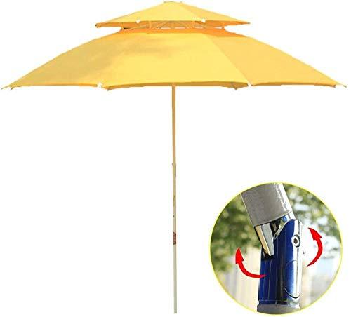 Sombrilla de jardín inclinable de Ø2,3 m Sombrilla de Dos Niveles con Dosel en voladizo Sombrilla de plátano para jardín y Patio con manivela inclinable para Exterior/Jardines/balcón/Patio som