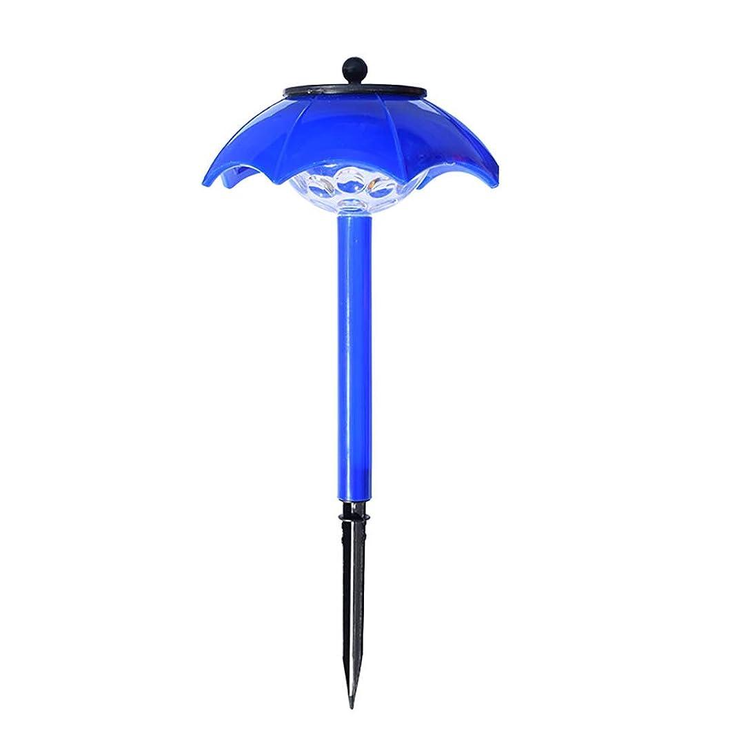堀ポールおっと屋外ライトソーラー式防水セキュリティライト、LEDミニ傘ライト、フロントドア、庭、ガレージ、フェンス、デッキ、36 * 16CM-blue