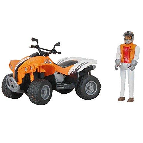 bruder 09032 - Quad Racer mit Fahrer, Fahrzeuge, orange/weiß