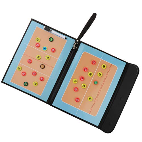 Baoblaze Faltbares Taktiktafel Volleyball Coachboard mit Stift, Radiergummi Magnete