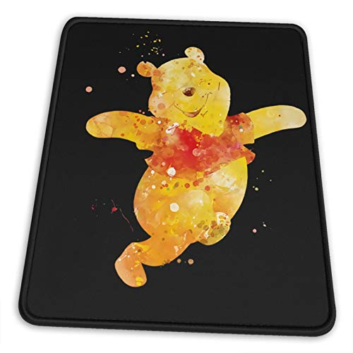 Nueey Winnie-The-Pooh - Alfombrilla de ratón vertical con soporte para muñeca, base de goma antideslizante para escritorio, ergonómica, 20,3 x 25,3 cm