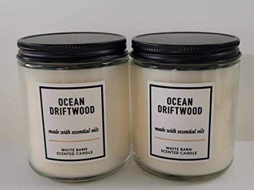Bath and Body Works 2 Set Ocean Driftwood Single Wick Candle 7 Oz.