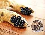 "LOOBANI 48 Pieces Dog Paw Protector Traction Pads to Keeps Dogs from Slipping On Floors, Disposable Self Adhesive Shoes Booties Socks Replacement, 12 Sets for 4 Paws (XL-1.97""x2.12"", Black)"