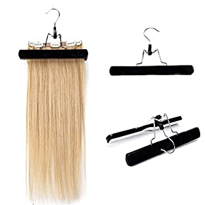 Beauty Shopping Hair Extensions Hanger Wooden Hair Holder with Double Anti-slip