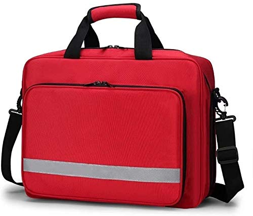 YBZJ Waterproof Medicine Bag,Outdoor First Aid Kit Oxford Cloth Lightweight Box Emergency Survival Case For Emergencies At Home Car Camping Workplace Hiking & Survival 1125 (Color : Red)