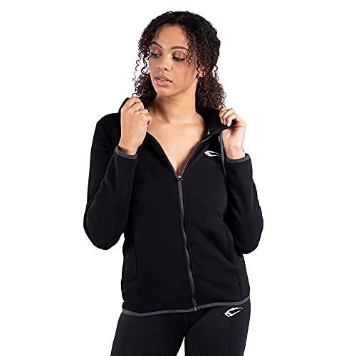 SMILODOX Damen Sweatjacke Result Sweatjacke für Sport Fitness & Freizeit | Sportpullover - Sweatshirt Jacke - Training, Farbe:Schwarz, Größe:XS