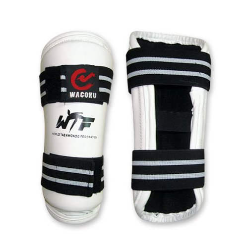 M.A.R International Wtf Approved Shin Guard Pads Taekwondo Gear White Large