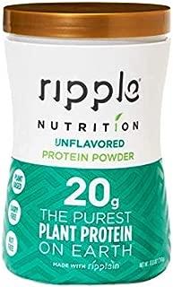 Ripple Vegan Unflavored Protein Powder, 15.4 oz