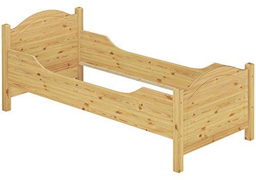 Erst-Holz® Seniorenbett extra hoch 90x200 Massivholz Kiefer Holzbett Einzelbett Gästebett Bett 60.40-09 oR