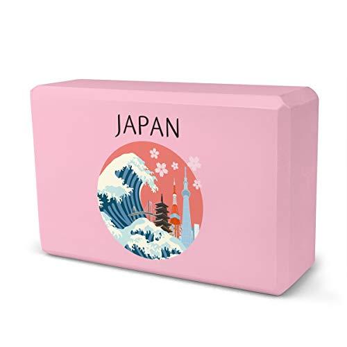 MJH Tokyo Japan - Ladrillo de espuma Eva de alta densidad que proporciona estabilidad y equilibrio ideal para ejercicio físico