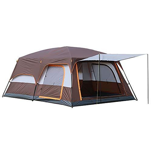 Carpa para acampar al aire libre Carpa familiar grande, duradera, impermeable, Carpa de campana, Refugios para el sol al aire libre, varias habitaciones, fácil instalación, para todas las estaciones