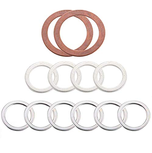 12157-10010 90430-24003 90430-18008 Differential and Transmission/Transfer Case Drain Plug Crush Washers Gaskets Compatible with Toyota 4runner Tacoma Tundra FJ cruiser Land Cruiser