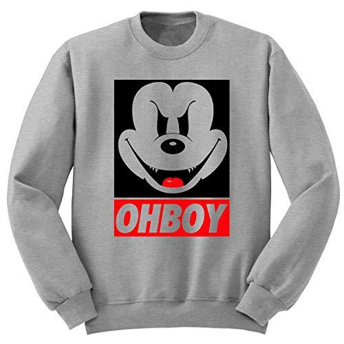 Digital Pharaoh Böser Mickey Maus Ohboy Pullover Obey Disney - grau, XL