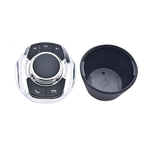MENGHE TANGZHOU Forma Universal de la Taza con la luz LED 8-Key Coche con el botón de Control del Volante inalámbrico para el Reproductor de navegación de Android
