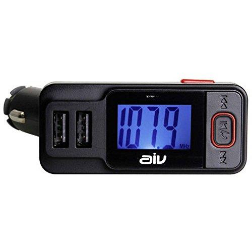 AIV 530414 FMT 719 BT de émetteur FM RDS Bluetooth avec Fonction Mains Libres (Noir)