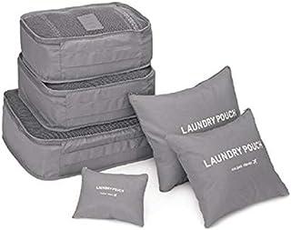 مجموعة حقائب تخزين وتنظيم للملابس في حقائب السفر، منظم حقائب 6 قطع