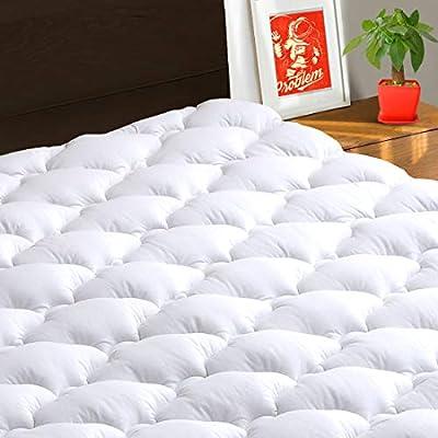 "TEXARTIST Mattress Pad Cover, Cooling Mattress Topper, 400 TC Cotton Pillow Top with 8-21"" Deep Pocket ¡"
