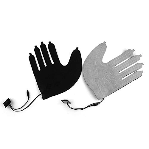 decaden 1PCS Handschuhheizung,Fünf-Finger-Handschuhe USB-Elektroheizkissen Lithium-Batterie-Netzteil Dreistufiger Thermostatschalter Heizplatte(ohne Handschuhe)