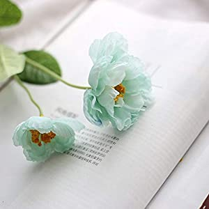 Artificial and Dried Flower 2PCS 9Colors 2 Heads Silk Poppy Artificial Flower Wedding Silk Flowers for Home Wedding Decoration Party Fake Flower