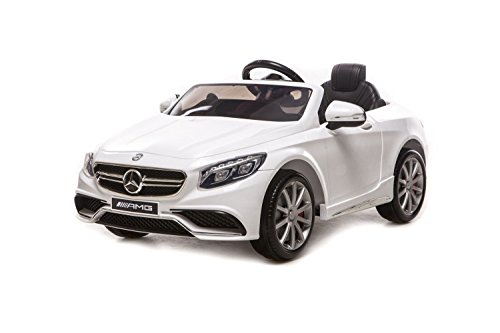 TOYSCAR electronic way to drive Auto Macchina Elettrica per Bambini Lcenza Mercedes-Benz S63 AMG 2 Motori 12V