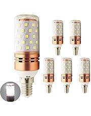 E14 LED-Corn Bulb Lamp 24V 36V 48V DC Warm/Koud Wit 10W 2835SMD 60LED DC 24-60V for RV Camper Marine, Solar Power Licht en Off Grid 5-Pack WELSUN (Color : Cool white)