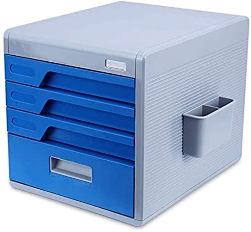 Ablageschränke Aktenschränke Vertikal 4 Drawer Desktop Datenaufbewahrungsbehälter aus Kunststoff Password Lock Büroschrank 30 * 38 * 27cm Home Office Möbel Bürobedarf