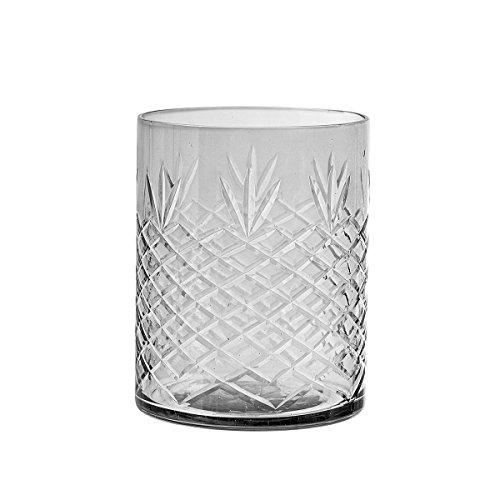 Bloomingville - Teelichthalter / Windlicht - grau - Glas D9xH11 cm