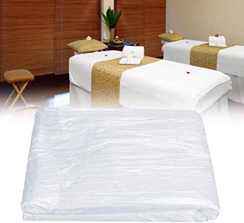 100 hojas de cama de spa desechables para masajes, fundas de sábanas de cosméticos, mesas de masaje para salón de belleza, masajes, tatuajes, hoteles (90 x 180 cm)