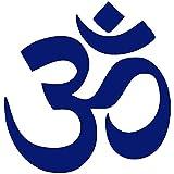 Aum Om Symbol Hinduismus Spirituelle Wand Auto Aufkleber Aufkleber Fabrikverkauf Direkt Aufkleber Muraux Wandkunst Wandbild-40X40Cm Blau