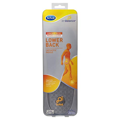 Scholl In-Balance Lower Back Orthotic Insole, Small Size, 45 - 65