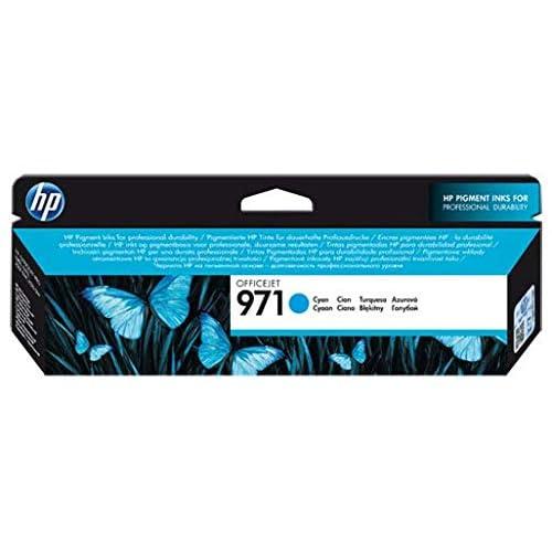 HP 971 CN622AE Cartuccia Originale per Stampanti a Getto di Inchiostro, Compatibile con Officejet Pro X451dw, X476dw, X551dw e X576dw, Ciano