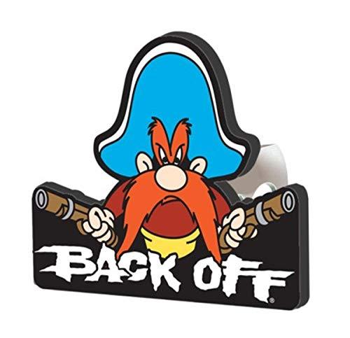 Plasticolor 002231R01 Yosemite Sam Back Off Hitch Cover, 1.25 inch