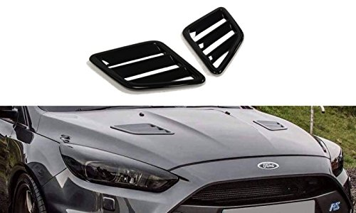 Maxton Design Bonnet Vents Compatible with Ford Focus MK3 RS 2015 - UP & Fiesta MK7 ST Facelift 2013-2016