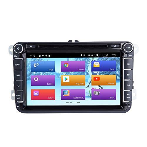 Android 10 Autoradio per VW Volkswagen VW Golf Polo Caddy Amarok Passat Seat Skoda per Tiguan Stereo Navigazione GPS Doppia testa Din Supporta DVR DAB + DSP OBD2 SWC